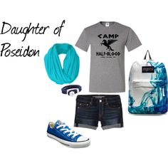 """""""Camp Halfblood: Daughter of Poseidon"""" by olsen-m on Polyvore"""