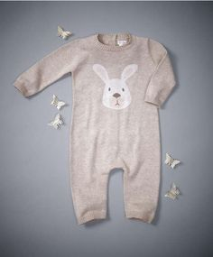 mamas and papas Knit Romper - Welcome to the World