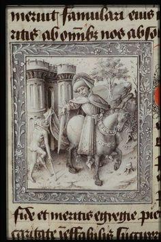 Book of Hours (`Hours of Philip of Burgundy'; use of Paris), containing in French: Poème sur les mois. Prière du voyageur. Prières de saint Anselme. Prière du pêcheur. Méditation de la Passion (in Latin). Place of origin, date: Oudenaarde, Jean Miélot (scribe), Jean le Tavernier and follower (illuminators); c. 1450-1460. Added sections: Bruges, Master of the Prayer Books of c. 1500 (illuminator); c. 1500 High Middle Ages, Religious Photos, Empire Romain, Grisaille, Medieval Manuscript, Body Reference, 15th Century, Rue, Storytelling