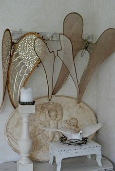 Collecting angel wings  from: Vita Ranunkler: En dag att minnas länge...