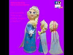 Como elaborar una Piñata de Elsa Frozen - Liandolas (How to make an Elsa Piñata from Frozen movie) - YouTube