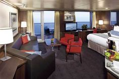 Holland America Nieuw Amsterdam - Cabins and Suites: Nieuw Amsterdam - Deluxe Verandah Suites