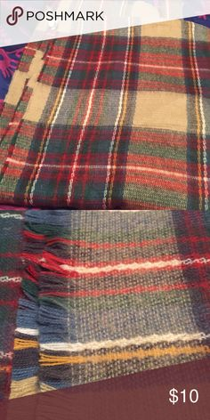 Plaid cozy scarf! Perfect addition for your closet! Large enough to wrap yourself in! Accessories Scarves & Wraps