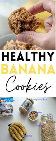 These Healthy Banana Cookies make such a delicious breakfast, snack, or dessert! Vegan and gluten-free!