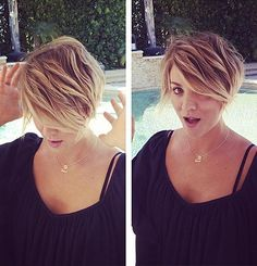 Kaley Cuoco cut her hair off in a new pixie 'do on May 31