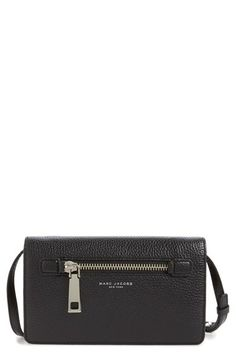 MARC JACOBS 'Gotham' Pebbled Leather Crossbody Wallet available at #Nordstrom