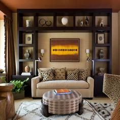 Fancy modernes wohnen gem tliches wohnzimmer in braunt nen mit viel deko