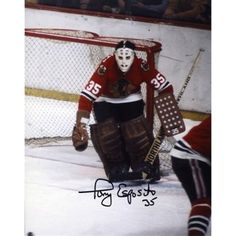 Tony Esposito Chicago Blackhawks Autographed Right Goal 8'' x 10'' Photo