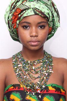 A beautiful Temne tribe lady, Sierra Leone, Africa.