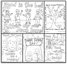 Free Father's Day Coloring Book (5 pages) single PDF download