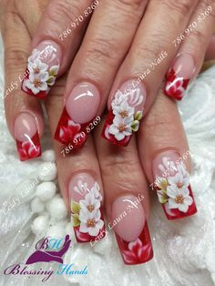 Very interesting nail idea for 3d Nail Designs, Pretty Nail Designs, Colorful Nail Designs, Fancy Nails, Cute Nails, Pretty Nails, Beautiful Nail Art, Gorgeous Nails, Wow Nails