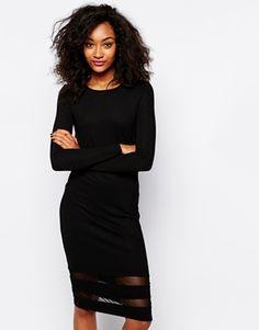 Enlarge Vero Moda Mesh Insert Hem Dress