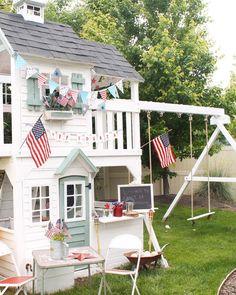 Ready to Build a Playhouse on Stilts? Backyard Playset, Backyard Playhouse, Build A Playhouse, Backyard Playground, Backyard For Kids, Backyard Bbq, Outdoor Playset, Outdoor Playhouses, Cubby Houses