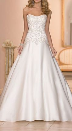 elegant A-Line gown
