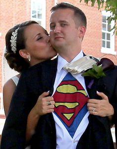 Secret superhero groom!