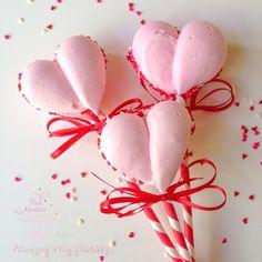 Meringue Heart Cookie Pops