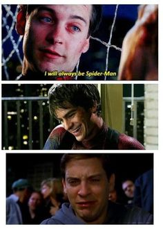 I have to admit, andrew garfield is a better spiderman. Cute dorky instead of creepy dorky.