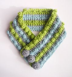 How To Crochet A Scarf | Crochet Scarf Gumdrops Wool Bamboo Unisex Striped Neck Crochet ...