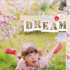 I like the large images and the magazine layout style... sort of. And sort of not... I mean... in my mind it's supposed to look like a photo album, not a magazine. But that's me. I like the cut-out letters. And that photo si amazing :-D Absolutely perfect :-)