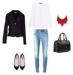 outfit by liliana-vaccara on Polyvore featuring moda, MANGO, LIU•JO, Diesel, Zara and Aqua