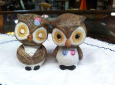 Vintage Set of Owls Salt & Pepper Shakers