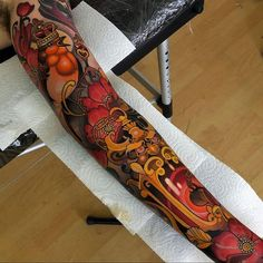 Two days in a row on klaudio, thanks again! Japanese Phoenix Tattoo, Japanese Tattoo Art, Tribal Sleeve Tattoos, Tattoo Sleeve Designs, Fire Tattoo, Back Tattoo, Body Art Tattoos, Cool Tattoos, Tatoos