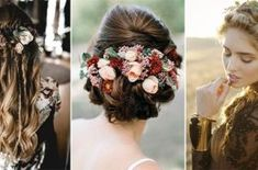 Top 15 Wedding Hairstyles for 2017 Trends - Page 3 of 3 - EmmaLovesWeddings Wedding Hair Front, Long Hair Wedding Styles, Mod Wedding, Wedding Hair And Makeup, Wedding Looks, Hair Makeup, Fall Wedding Hairstyles, Wedding Hairstyles Half Up Half Down, Top Hairstyles