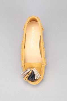 Mocassins jaunes cuir Crète Jaune Petite Mendigote sur MonShowroom.com