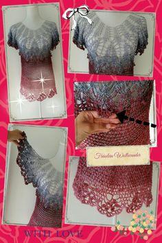 Traumgarn Tunika * gehäkelt * crochet  https://www.facebook.com/fraeuleinwollwunder