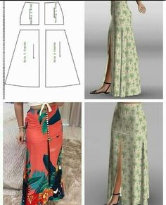 Fashion Sewing, Diy Fashion, Fashion Dresses, Skirt Patterns Sewing, Clothing Patterns, Skirt Sewing, Sewing Clothes, Diy Clothes, Costura Fashion