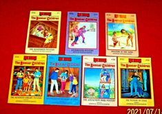 The Boxcar Children Chapter Books Lot of 7 Gertrude Chandler Warner Gr. 2nd-5th Boxcar, Mystery Books, Chapter Books, Book Title, Amusement Park, Book Series, Homeschool, Author, Children