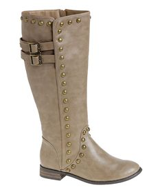Passions Footwear Beige Paris Boot by Passions Footwear #zulily #zulilyfinds