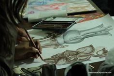 Ilustración lápiz, sanguínea IES Diseño Gráfico Zacapoaxtla