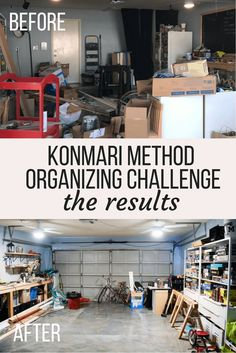 The results of a 30 day organizing challenge following the Konmari method. Free email challenge to get your house organized and tips for how to do it.