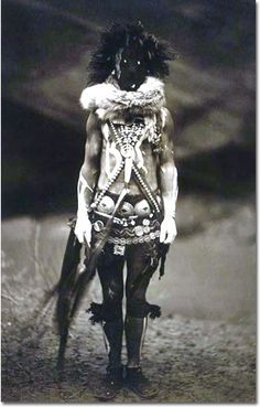 This is a 1904 portrait of a Navajo dressed as the deity Nayenezgani, the god of sadness and nightmare fuel, we're assuming. Presumably this was part of a revenge plot -- white people took aboriginal land, so the natives took away their ability to sleep. In some photos, it looks like a person is having his face swallowed by a randomly appearing black hole.