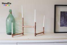 Candelabro de cobre DIY Handfie