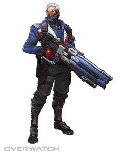 Soldier: 76, Armed with cutting-edge weaponry, including an experimental pulse rifle that's capable of firing spirals of high-powered Helix Rockets, Soldier: 76 has the speed and support know-how of a highly trained warrior.