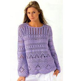 Beach crochet tunic pattern long sleeves by FavoritePATTERNs, $8.50
