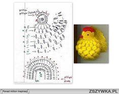 kurczak na szydełku schemat - Szukaj w Google