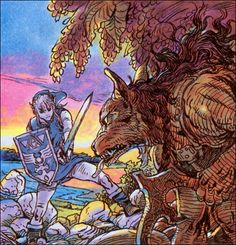 Curiosities: The Legend of Zelda Original Concept Art.When The Legend of Zelda first appeared a couple of decades ago, artist Katsuya Terada created these amazing concept artworks for the first few games that appeared in player's guides and in Nintendo Power magazine.  Although it differs greatly from the Zelda that evolved on later systems, it's a fascinating look into the series' early roots.
