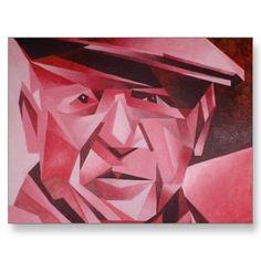 Kubistisch portret met scherpe hoeken