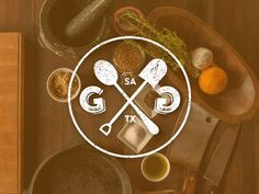 Shovel + Spoon Logo by Barak Tamayo Shovel, Gingerbread Cookies, Spoon, Logo Design, Branding, Bike, Logos, Heart, Creative