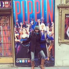 """""""More proof that I can't stay in the lines. Stoked to see #Pippin today with @sarah_est_ici""""  @khadija426"""