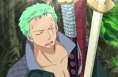 Zoro is my Favorite Character in One Piece! One Piece Gif, Zoro One Piece, One Piece Anime, Roronoa Zoro, Zoro Nami, Naruto Oc Characters, Arte Sketchbook, Anime Nerd, Hot Anime Guys