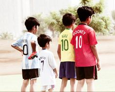 my future boys in their soccer jerseys.
