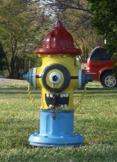 Minion Fire Hydrant on Nettleton St