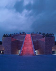 Petra Winery, designed by architect Mario Botta, location: Suvereto, Livorno province (Maremma), Tuscany, Italy