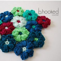 Puff Stitch Field of Flowers: FREE crochet pattern