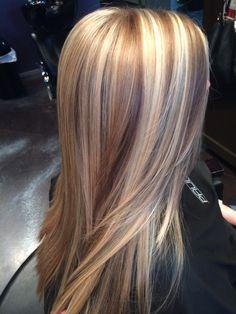 Highlight lowlight blonde hair