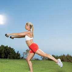 Squat with Single-Leg Arabesque - Fitnessmagazine.com